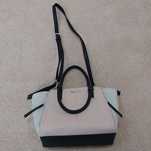 Pink, black, and white reaction Kenneth Cole purse